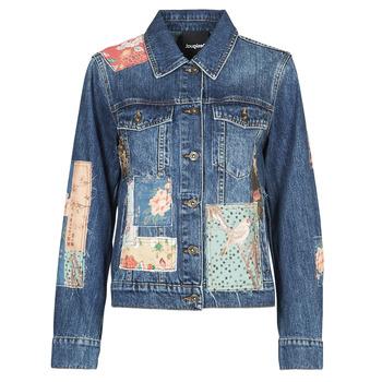 vaatteet Naiset Farkkutakki Desigual JAPO PATCH Sininen