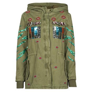 vaatteet Naiset Parkatakki Desigual FLIX Khaki
