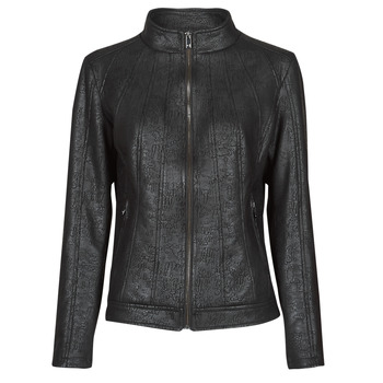 vaatteet Naiset Nahkatakit / Tekonahkatakit Desigual COMARUGA Musta