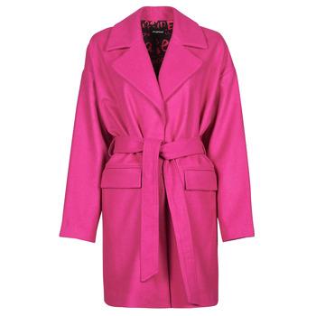 vaatteet Naiset Paksu takki Desigual RUBI Vaaleanpunainen