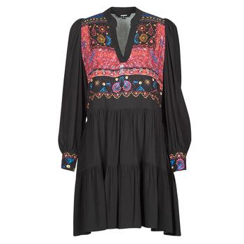 vaatteet Naiset Lyhyt mekko Desigual SOLSONA Musta
