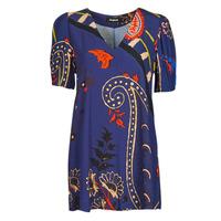 vaatteet Naiset Lyhyt mekko Desigual TERRASSA Sininen