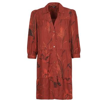 vaatteet Naiset Lyhyt mekko Desigual SEVILLA Punainen