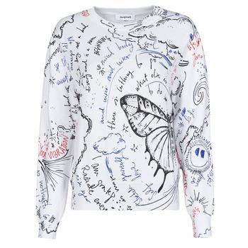 vaatteet Naiset Neulepusero Desigual BOSTON Valkoinen