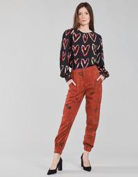 vaatteet Naiset Väljät housut / Haaremihousut Desigual CAMOTIGER Punainen