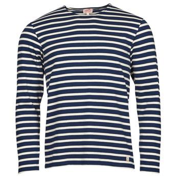 vaatteet Miehet T-paidat pitkillä hihoilla Armor Lux MARINIERES RUSTIQUE BIO GA1 Sininen