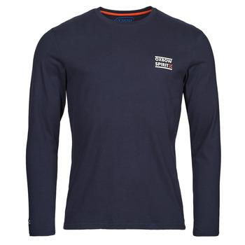 vaatteet Miehet T-paidat pitkillä hihoilla Oxbow N2TORJOK Laivastonsininen