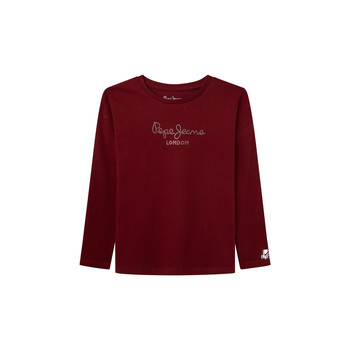 vaatteet Tytöt T-paidat pitkillä hihoilla Pepe jeans NURIA LS Punainen