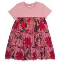 vaatteet Tytöt Lyhyt mekko Desigual ZAFIRO Vaaleanpunainen