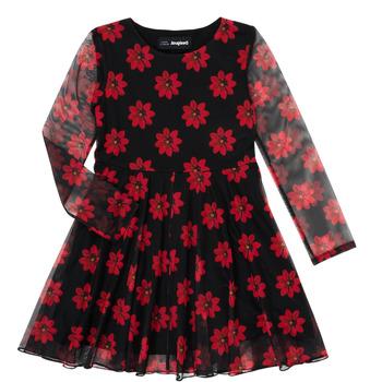 vaatteet Tytöt Lyhyt mekko Desigual ALICIA Monivärinen