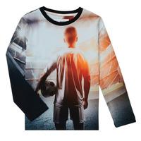 vaatteet Pojat T-paidat pitkillä hihoilla Desigual FOOTBALL Harmaa