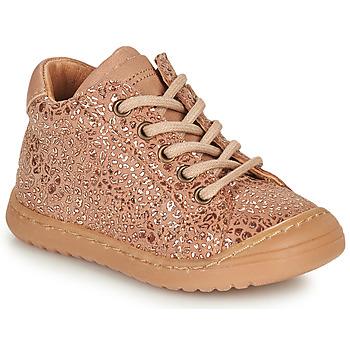 kengät Tytöt Bootsit Bisgaard THOR Vaaleanpunainen / Kulta