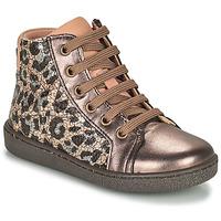 kengät Tytöt Korkeavartiset tennarit Bisgaard GAIA Leopardi / Kulta