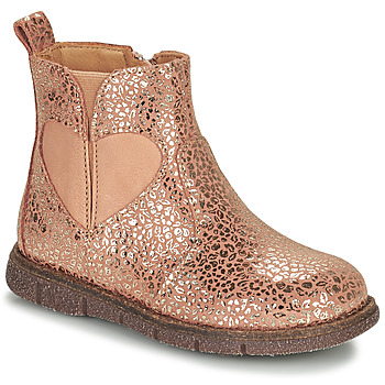 kengät Tytöt Bootsit Bisgaard MELODY Vaaleanpunainen / Kulta
