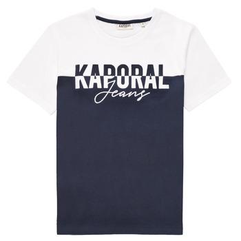 vaatteet Pojat Lyhythihainen t-paita Kaporal JILEY Valkoinen