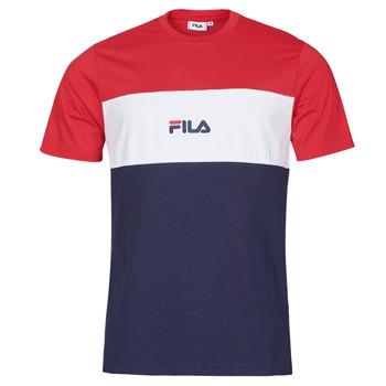 vaatteet Miehet Lyhythihainen t-paita Fila ANOKI Punainen / Laivastonsininen / Valkoinen