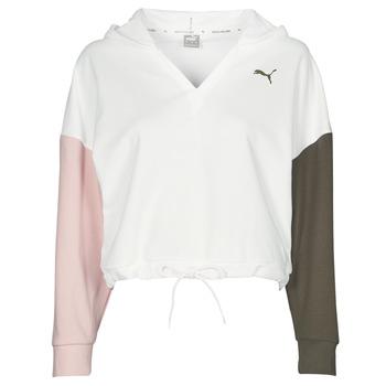 vaatteet Naiset Svetari Puma MODERN SPORT HOODIE Valkoinen / Monivärinen