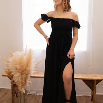 vaatteet Naiset Pitkä mekko Céleste PATCHOULI Musta