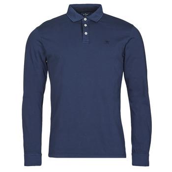 vaatteet Miehet Pitkähihainen poolopaita Hackett HM550879 Sininen