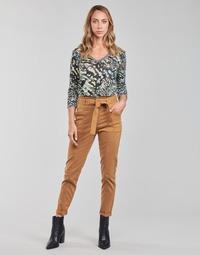 vaatteet Naiset 5-taskuiset housut One Step FT22111 Beige