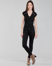 vaatteet Naiset 5-taskuiset housut Morgan PETRA Musta