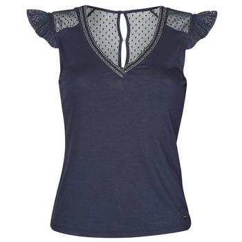 vaatteet Naiset Lyhythihainen t-paita Morgan DUCHES Laivastonsininen