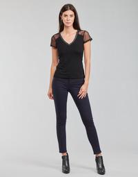 vaatteet Naiset 5-taskuiset housut Morgan PETRA Laivastonsininen