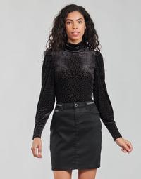 vaatteet Naiset T-paidat pitkillä hihoilla Morgan TISPI Musta