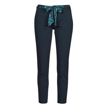 vaatteet Naiset 5-taskuiset housut Freeman T.Porter CLAUDIA FELICITA Laivastonsininen