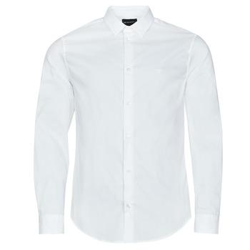 vaatteet Miehet Pitkähihainen paitapusero Emporio Armani 8N1C09 Valkoinen
