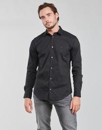 vaatteet Miehet Pitkähihainen paitapusero Emporio Armani 8N1C09 Laivastonsininen
