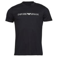 vaatteet Miehet Lyhythihainen t-paita Emporio Armani 8N1TN5 Musta