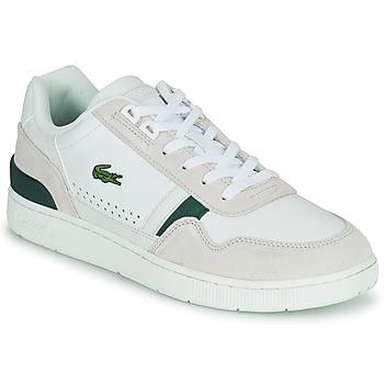 kengät Miehet Matalavartiset tennarit Lacoste T-CLIP 0120 3 SMA Valkoinen / Beige