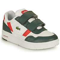 kengät Lapset Matalavartiset tennarit Lacoste T-CLIP 0121 2 SUI Valkoinen / Vihreä / Punainen