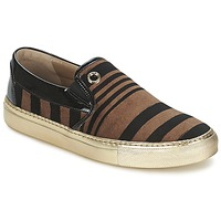 kengät Naiset Tennarit Sonia Rykiel STRIPES VELVET Black / Brown