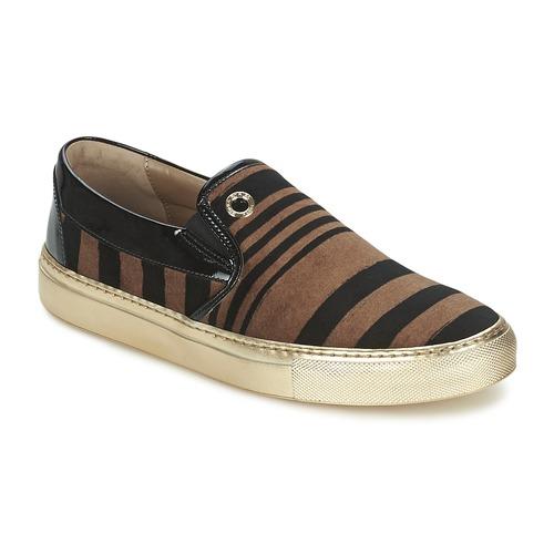 kengät Naiset Tennarit Sonia Rykiel STRIPES VELVET Black / Brown