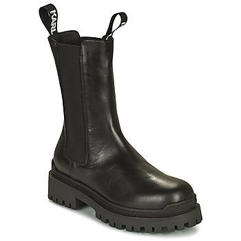 kengät Naiset Bootsit Karl Lagerfeld BIKER II LONG GORE BOOT Musta
