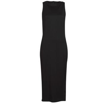 vaatteet Naiset Lyhyt mekko Karl Lagerfeld KITTED WRAP DRESS Musta
