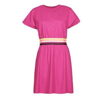 vaatteet Naiset Lyhyt mekko Karl Lagerfeld LOGO TAPE JERSEY DRESS Vaaleanpunainen