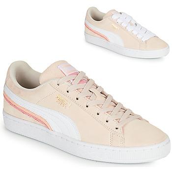 kengät Naiset Matalavartiset tennarit Puma SUEDE TRIPLEX Vaaleanpunainen / Valkoinen