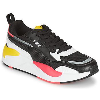 kengät Naiset Matalavartiset tennarit Puma XRAY2 SQUARE Musta / Valkoinen / Vaaleanpunainen