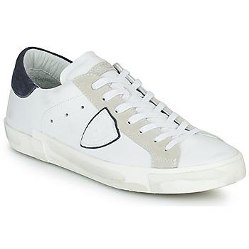 kengät Miehet Matalavartiset tennarit Philippe Model PRSX LOW MAN Valkoinen