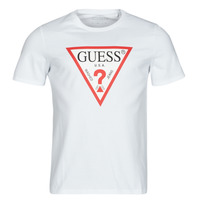vaatteet Miehet Lyhythihainen t-paita Guess CN SS ORIGINAL LOGO TEE Valkoinen