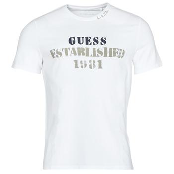 vaatteet Miehet Lyhythihainen t-paita Guess WORKFOR CN SS TEE Valkoinen