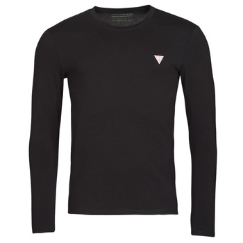 vaatteet Miehet T-paidat pitkillä hihoilla Guess CN LS CORE TEE Musta
