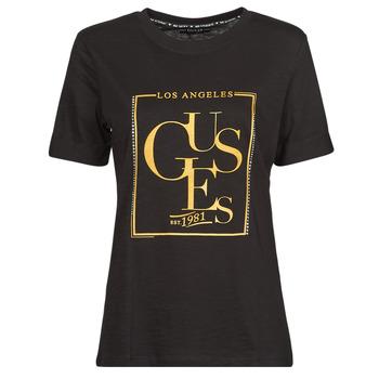 vaatteet Naiset Lyhythihainen t-paita Guess SS CN SIMONNE TEE Musta