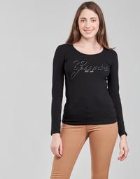 vaatteet Naiset T-paidat pitkillä hihoilla Guess LS CN RAISA TEE Musta