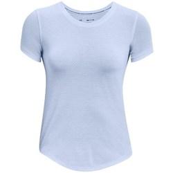 vaatteet Naiset Lyhythihainen t-paita Under Armour Streaker Run Vaaleansiniset