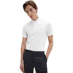 vaatteet Miehet Lyhythihainen poolopaita Calvin Klein Jeans K10K107090 Valkoinen