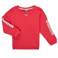 vaatteet Tytöt Svetari Puma ALPHA CREW SWEAT Vaaleanpunainen